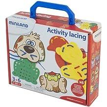 Miniland - Activity Lacing en maleta (95281)