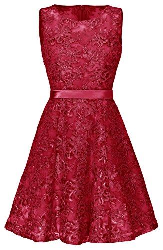 Juju Christine festliches Cocktailkleid / Ballkleid Abendkleid 1547 (36, rot)