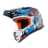 PULLIN Casque de Motocross Enfant Trash 2019, Bleu Marine, Orange, Multicolore, M...