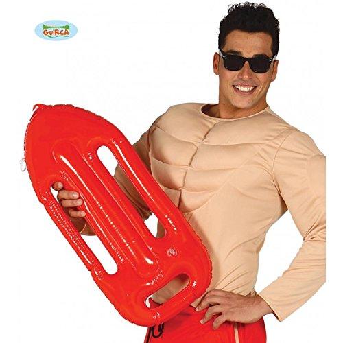 Boje Rettungsschwimmer Kostüm - Guirca Aufblasbare Boje zum Rettungsschwimmer Kostüm in rot