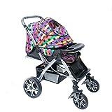 Whui Baby Pushcart Alto Paesaggio Passeggino Può Essere Piegato In Due Direzioni, Bimbo Di Quattro Ruote Di Spinta A Mano.