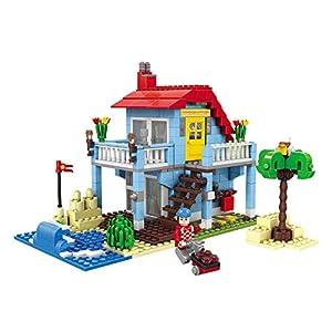 Ausini- Juego de construcción Casa 3 en 1, 469 Piezas, ColorBaby 44647