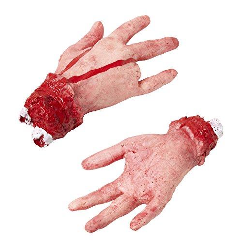 Kostüm Hunde Business - Widmann 81604 - Abgehackte Hand mit abgehacktem Finger, lebensgroß