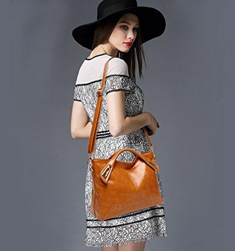 YiLianDa Borsa Nuovi Singola Borsa delle Donne allingrosso di Modo delle Donne Messenger Bag Borsa Donna Marrone