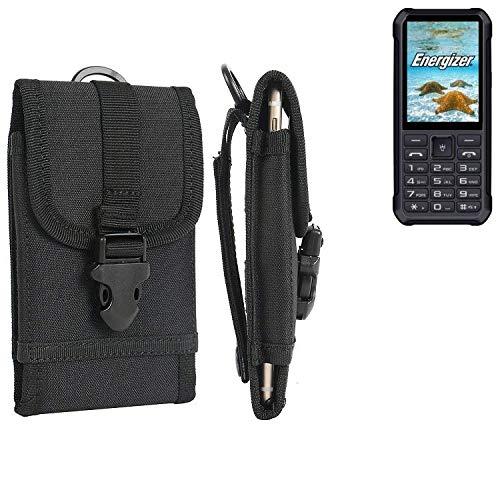 K-S-Trade Handyhülle für Energizer H20 Gürteltasche Handytasche Gürtel Tasche Schutzhülle Robuste Handy Schutz Hülle Tasche Outdoor schwarz