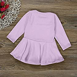 Baby Outwear Dress 0-3 Years, Transer® Baby Girls Outfits Kids Christmas Clothes 0-24 Months Party Dress Toddlers Ruffled Swing Dreses Infants Cotton Princess Dress