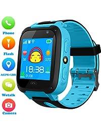 Niños Smartwatch - Localizador de posición GPS/LBS Reloj de Alarma SOS Infantil Relojes de