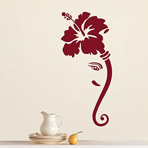 DECOR Kafe Home Decor Ganesha Flower Wall Sticker, Wall sticker for bedroom, Wall Art, Wall poster (PVC vinyl, 68 X 157 CM)  available at amazon for Rs.649