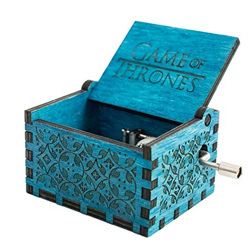 Cooshional Caja de Musica Juego de Tronos Estilo Retro de Madera Tallada a Mano