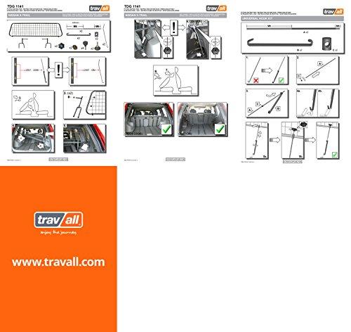 Travall® Guard Hundegitter TDG1141 – Maßgeschneidertes Trenngitter in Original Qualität - 2