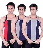 Zimfit Gym Vest - Pack of 3 (Blue_Grey_R...