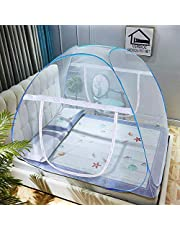 VERDIOZ WITH DEVICE Foldable Poly Cotton Double Bed Mosquit