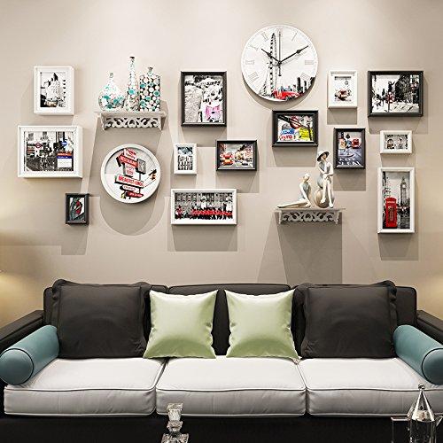 Bilderrahmen von hjky gemütliche Schlafzimmer kreative Motivpapier-Wand selbstklebend Wallpaper Wand Zimmer Kinder Wand Foto Aufkleber Schilder Wand Zubehör Zimmer Schwarz / Weiß (Platte Wand-schild)