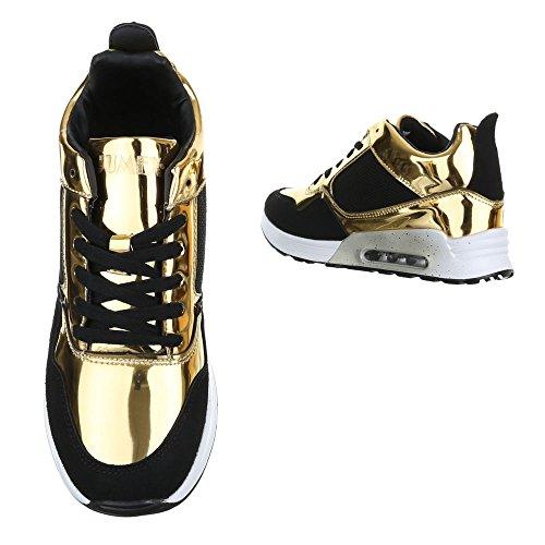 Ital-Design - Pantofole a Stivaletto Donna Gold