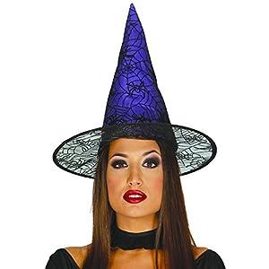 Guirca- Sombrero de bruja, Color morado, talla única (13992)