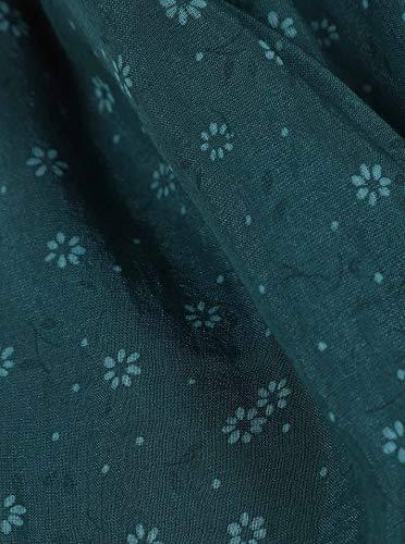 Seiden – Tuch für Damen mit Blumen-Wiese von Zwillingsherz (grün) - 2