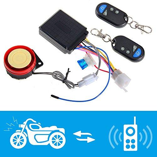 Shsyue® Sistema de Alarma de la Motocicleta Antirrobo de Seguridad de Control Remoto Sirena 125dB