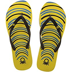 United Colors of Benetton Women's Yellow Flip-Flops and House Slippers - 8 UK/India (42 EU)