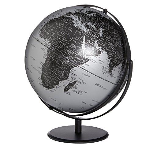 Emform - Globus, Weltkugel - Saturn - Farbe: Silber matt - Ø: 30 cm