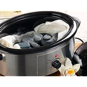 Art-of-Baan® – Professionelles Hot Stone Set: 6 Liter Wärmegerät & 36 handpolierte Basalt Steine und Thermostat