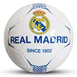 Real Madrid FC Since 1902 White Football Size 5 Faux Leather Ball Official Product