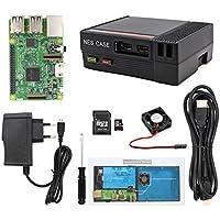 The perseids Caso NES, alimentazione funzionale e pulsante RESET Mini Computer Case con ventola di raffreddamento e Raspberry Pi 3, 2 e B + (Pi Set)