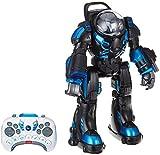 Jamara 410043 - Robot Spaceman Infrarot - Lautsprecher und Musik, LED-Beleuchtung, über Fernsteuerung Arme Anheben, Bewegliche Gelenke, 2 Verschiedene Schießfunktionen, Tanz-Funktion, Demo-Funktion