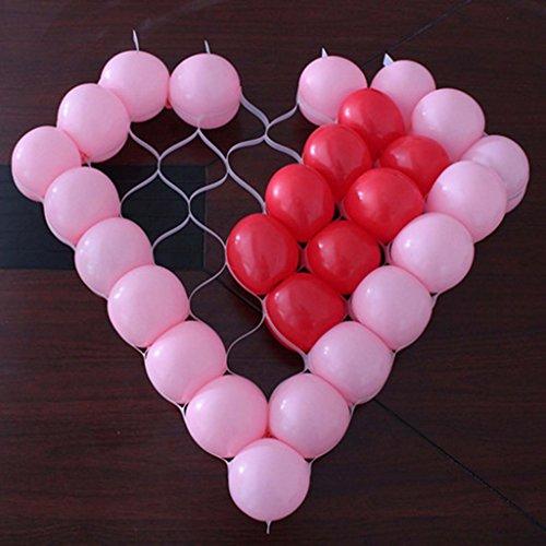HuntGold Herz-Luftballon Ballons Netz Mesh-Gitter, 38 - Ballon-netz
