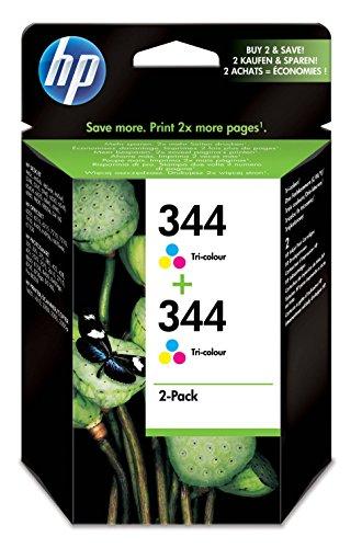 HP 344 Cartouche d'encre d'origine Pack de 2 Cyan Magenta Jaune