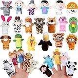 Joinfun Fingerpuppen Party Mitgebsel Cartoon Tier Hand Spielzeug Menschen Familienmitglieder für Kindergeburstag Gastgeschenk und Finger Plüschtier Stuffer für Ostereier Mitgebsel Weihnachten