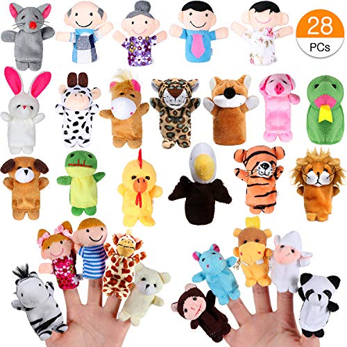 Joinfun Marionetas Dedo 22pcs Cartoon Animal Hand