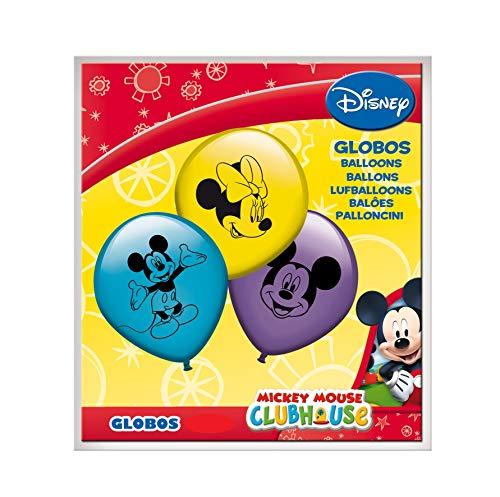 ALMACENESADAN 0671, Pack 16 Globos Disney Mickey Mouse; para Fiestas y cumpleaños. Ideal para Decorar Tus Fiestas.