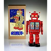Sig. D-Cell latta rossa collezione retrò tin robot.
