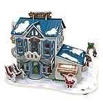 Feliz Navidad 3D Puzzle Set entretenimiento 4 piezas un paquete (Techo azul con LED interior)