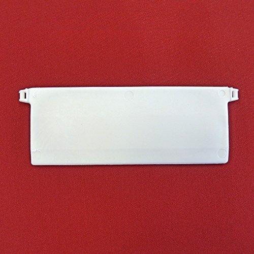 Easy-Shadow - 20 Stück Beschwerungsplatten Gewicht für Lamellenvorhang Stofflamellen Breite 127 mm - Vertikal Lamellen Vorhang / Vertikal Jalousie / Vertikaljalousie / Vertikal-Anlage / Vertikalanlage / Vorhang-Lamellen 127mm - weiß