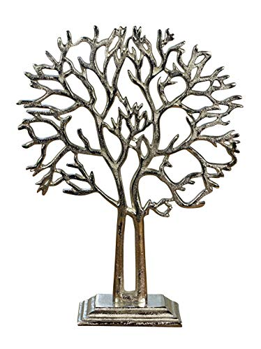 Deko-Baum Baum des Lebens Lebensbaum H 37cm Aluminium Holz Trenddesign