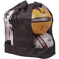 FancyU Bolso Grande de la Bola de la Malla del Lazo de los Deportes, Bolso del Almacenamiento del Equipo de Entrenamiento de fútbol con la Correa-Hombro Carga 5 Bolas