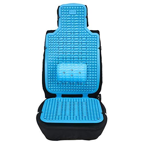 ALEMIN Auto Massage wulst Kissen, Rücken Breathable Massieren rutschfeste Stuhl Matte, Stress abzubauen Auto sitzbezüge für Fahrer büro (Blau)