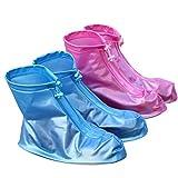 Femme de pluie Proof Housse à chaussures, famille 15Nacré en PVC ANTISALISSURE Chaussure Coque épaissir étanche Couche