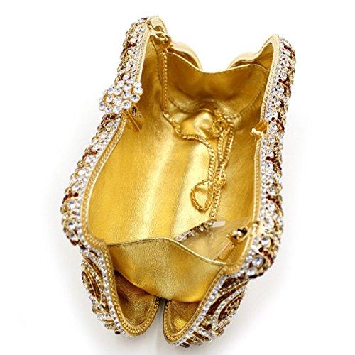 Frauen-Luxus-Diamant-Abendtasche High-End-glänzend Kupplung OneColor
