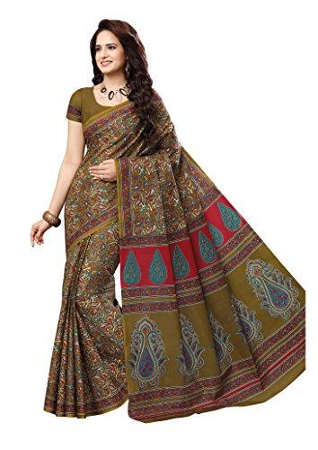 Vinay's Sarees Pure Cotton Kalamkari Print Saree For Women with Blouse Piece...
