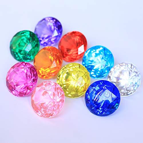 DAHI Deko Diamanten 40mm Hochzeit Streudeko Transparent Kristall Dekosteine Tischdeko Diamanten (bunt, 40x30mm)