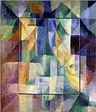 Holzbild 70 x 80 cm: Fenster zur Stadt von Robert Delaunay / akg-images