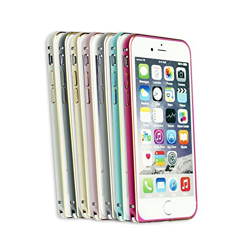 OBiDi - Colorful Frame Gold Outlet Easy-Clip Metal Case / Housse pour Apple iPhone 6 / 6S (4.7 inch)Smartphone - Hot Pink Hot Pink