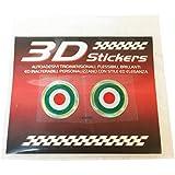 Pegatina 3D Colores Bandera Italia 1,5 cm para Moto Scooter y Bicicleta