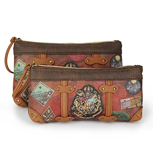Karactermania Harry Potter Railway-Set of Two Cosmetic Bags Beauty Case, 24 cm, Marrone (Brown)