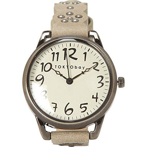 tokyobay-t259-gy-frauen-edelstahl-lederband-weisses-zifferblatt-watch