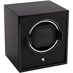 Wolf Laquered Cub Single Watch Winder in Black