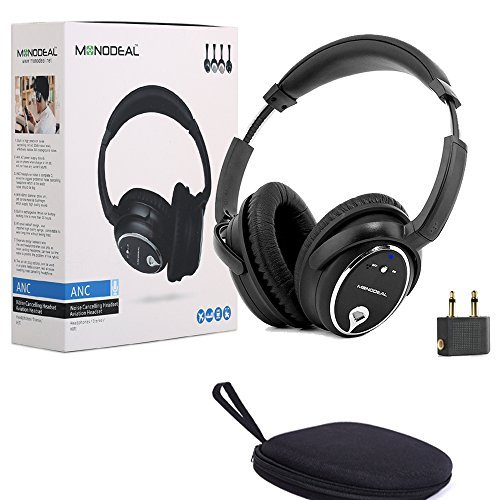 Active Noise Cancelling Headphones with Mic, MonoDeal Overhead bassi profondi