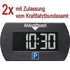 2x Mini elektronische digitale Parkuhr